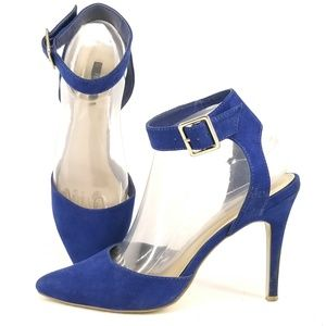Forever 21 Womens Blue Ankle Strap Heels 7.5  EJ25
